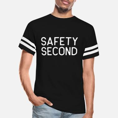 Safety Motorcycle Riding Safety Second White Biker Riders Gift Light - Unisex Vintage Sport T-Shirt