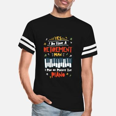 Retired Piano Player Pianist Retirement Plan - Unisex Vintage Sport T-Shirt