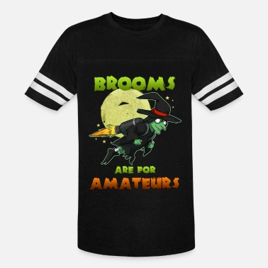 Witches Broom Witch on witch broom - Unisex Vintage Sport T-Shirt