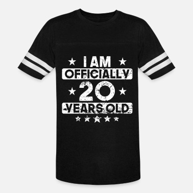 20 Years Old I Am Officially 20 Years Old 20th Birthday - Unisex Vintage Sport T-Shirt