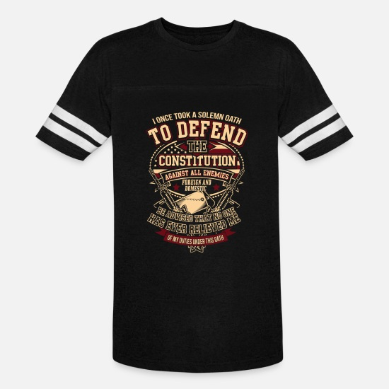 Submarine T-Shirts - Veteran - Solemn oath to defend the constitution - Unisex Vintage Sport T-Shirt black/white