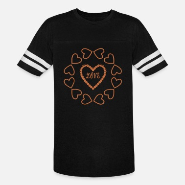 Casanova Beautiful LOVE heart circle for lovers - Unisex Vintage Sport T-Shirt