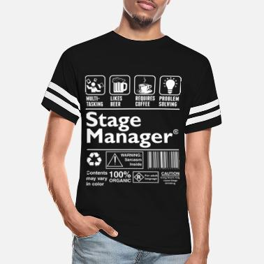 Stage Stage Manager Multitasking Beer Coffee Problem - Unisex Vintage Sport T-Shirt