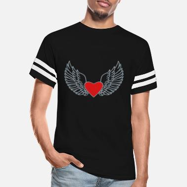 Heart With Wings Heart and Wings - Unisex Vintage Sport T-Shirt