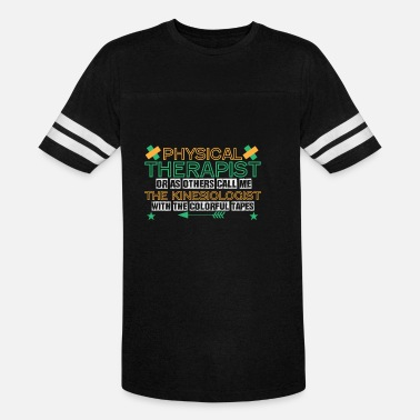 Physiotherapist Physiotherapist Saying | Kinesiology Tape colorful - Unisex Vintage Sport T-Shirt