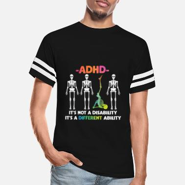Aspergers ADHD Not Disability Different Ability Skeleton - Unisex Vintage Sport T-Shirt