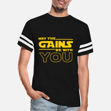 Gains May The Gains Be With You - Unisex Vintage Sport T-Shirt