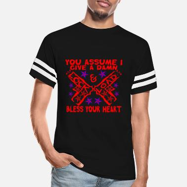 Dixie You Assume I Give A Damn Bless Your Heart © - Unisex Vintage Sport T-Shirt