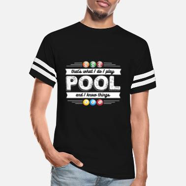 Billiard Ball Funny Billiards - That's What I Do Play Pool Humor - Unisex Vintage Sport T-Shirt