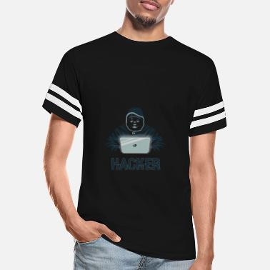Hacker Hackers on Laptop, Hooded and Cap - Unisex Vintage Sport T-Shirt