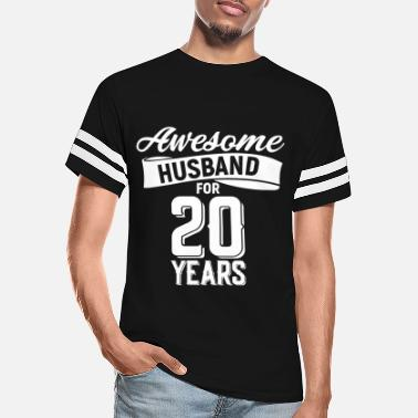 20 Years Awesome Husband for 20 years - Unisex Vintage Sport T-Shirt