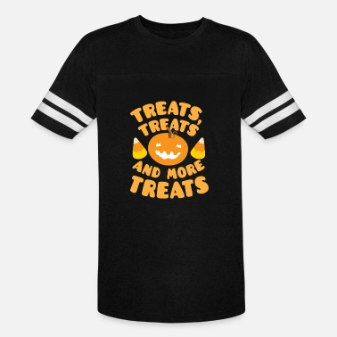 Treats Treats treats and more treats with candy corn - Unisex Vintage Sport T-Shirt