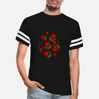 Opium Poppy flowers potpourri in bright red - Unisex Vintage Sport T-Shirt