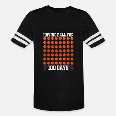 100 Sports Basketball Boys Funny 100th Day Of Scho - Unisex Vintage Sport T-Shirt
