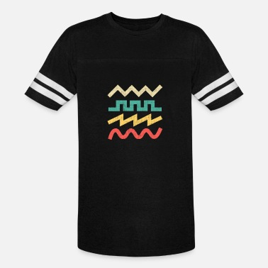 Electronic Musician Synthesizer Waveform for Electronic Musician - Unisex Vintage Sport T-Shirt