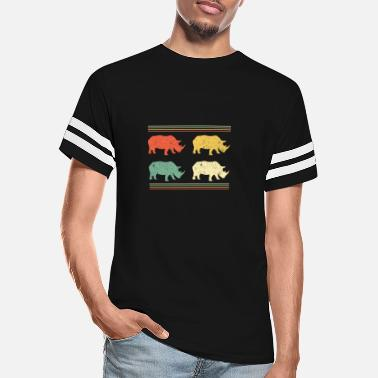 Tanzania Rhino Shirt Animal Lover Gift Colorful Rhinos - Unisex Vintage Sport T-Shirt