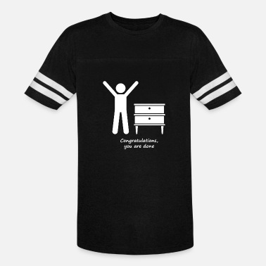 Congratulations Congratulations you are done - Unisex Vintage Sport T-Shirt