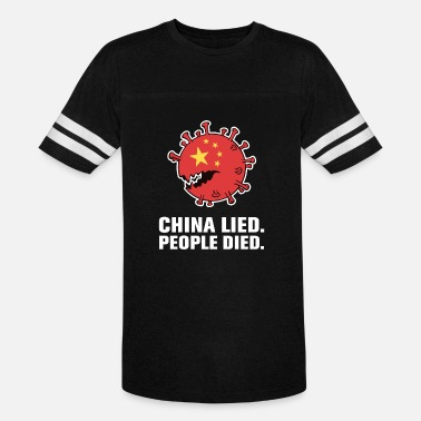 China Lied People Died - Unisex Vintage Sport T-Shirt