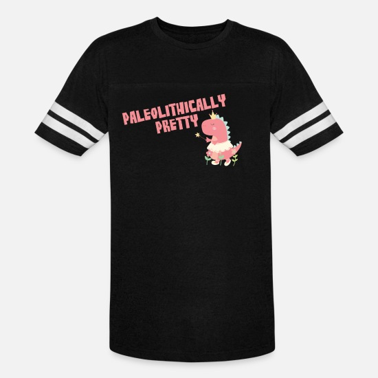 Pink T-Shirts - Paleolithically Pretty - Unisex Vintage Sport T-Shirt black/white