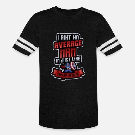 Birthday T-Shirts - Superhero Captain America Avengers Gift - Unisex Vintage Sport T-Shirt black/white