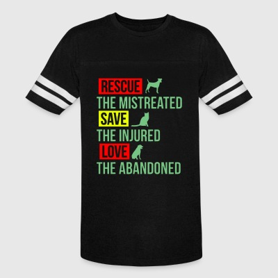 Rescue the mistreated save the injured love the ab - Vintage Sport T-Shirt