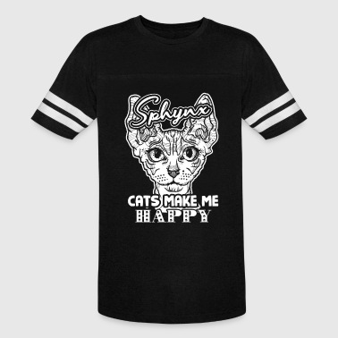Sphynx Cats Make Me Happy Shirt - Vintage Sport T-Shirt