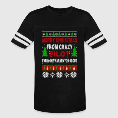 Merry Christmas From Crazy Pilot - Vintage Sport T-Shirt
