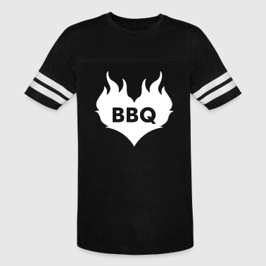 Bbq Heart Shaped Flaming Heart - Vintage Sport T-Shirt