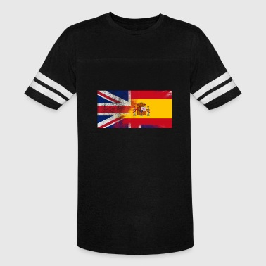 British Spanish Half Spain Half UK Flag - Vintage Sport T-Shirt