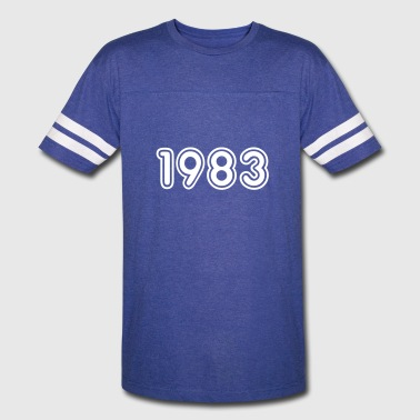 1983, Numbers, Year, Year Of Birth - Vintage Sport T-Shirt
