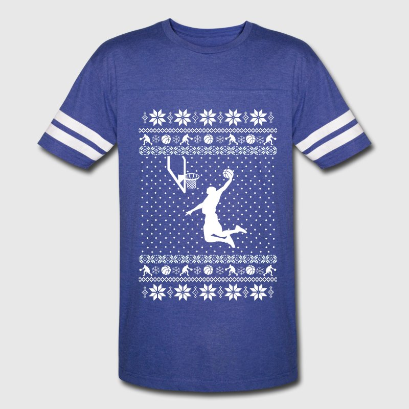 Basketball Xmas Sweater - Vintage Sport T-Shirt