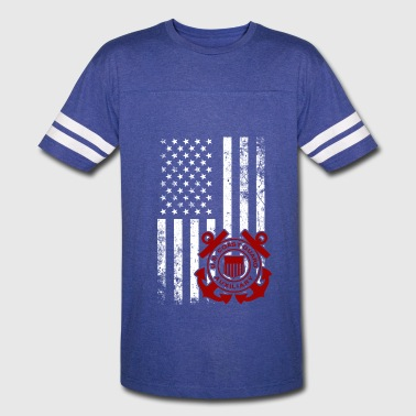 American Flag Coast Guard - Vintage Sport T-Shirt