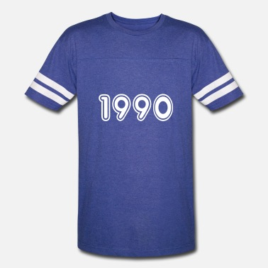 1990 Year Of Birth 1990, Numbers, Year, Year Of Birth - Vintage Sport T-Shirt