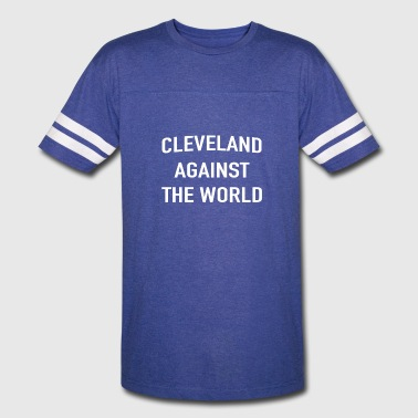 Cleveland Against The World Cleveland Against The World T-Shirt - Vintage Sport T-Shirt