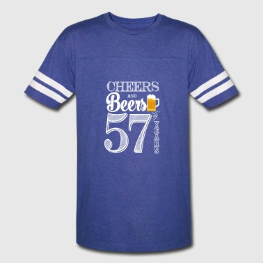 57 Years Cheers and Beers To 57 Years - Vintage Sport T-Shirt