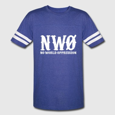NWO: No World Oppression (Black) - Vintage Sport T-Shirt