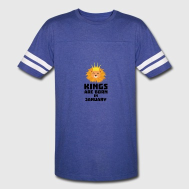 Kings are born in JANUARY S4z2d - Vintage Sport T-Shirt