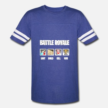 56e6a7e9 Fortnite Battle Royale Loot build kill win - Unisex Vintage Sport T-Shirt
