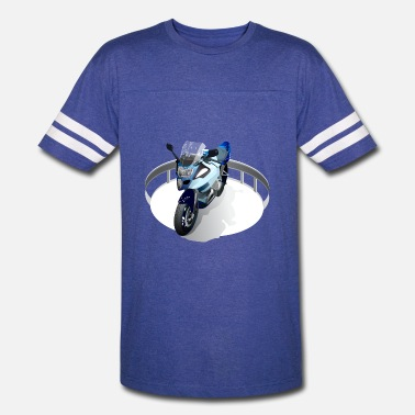 Hipster Motorcycles With Motorcycle - Unisex Vintage Sport T-Shirt