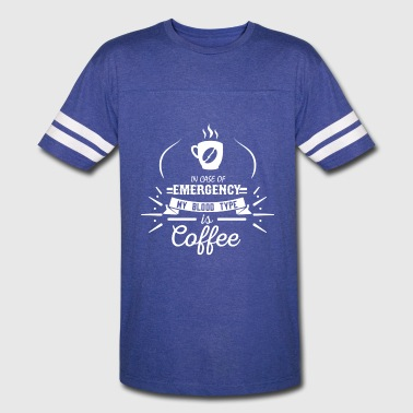 Coffee Blood Type | White Letters - Vintage Sport T-Shirt