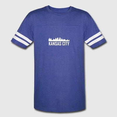 Kansas City Missouri City Skyline - Vintage Sport T-Shirt