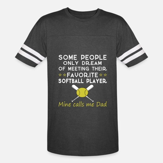 Dad T-Shirts - SOFTBALL DAD T Shirt - Unisex Vintage Sport T-Shirt vintage smoke/white
