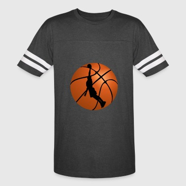 Basketball Silhouette Basketball Player Silhouette - Vintage Sport T-Shirt