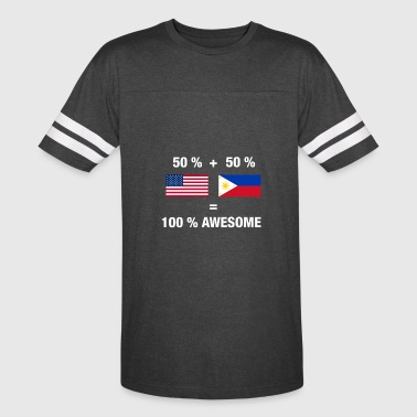 Half Filipino Half American Half Filipino Half American 100% Awesome Philippin - Vintage Sport T-Shirt