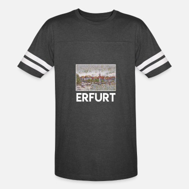 Erfurt Erfurt City Skyline Sights Silhouette Landmark - Vintage Sport T-Shirt