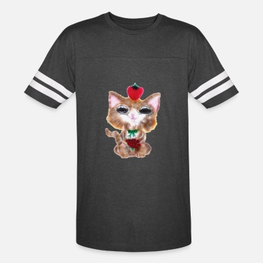 Fluffy Cat Fluffy Strawberry Cat - Vintage Sport T-Shirt