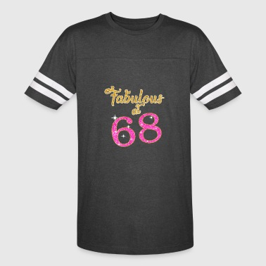 68 Birthday Fabulous at 68 - Vintage Sport T-Shirt