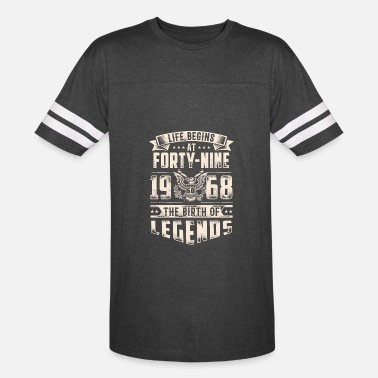 Begins At Forty Life Begins At Forty Nine Tshirt - Vintage Sport T-Shirt