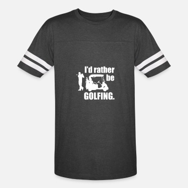 Ide Geek Id rather be golfing - Vintage Sport T-Shirt
