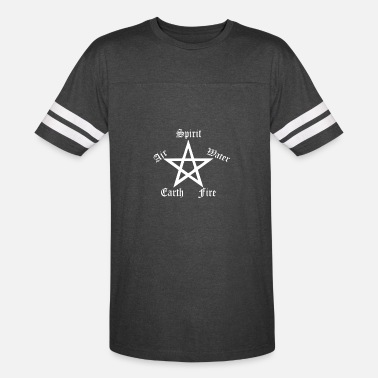 Paganism Elements Pentagram Womens Funny Pagan witchcraft l - Vintage Sport T-Shirt